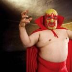 Luchador posing — Stock Photo