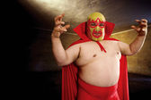 Luchador posing — Stock Photo