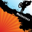Vector motocross background - Stock Vector