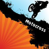 Vector motocross background — Stock Vector