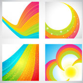 Rainbow backgrounds collection — Stock Vector