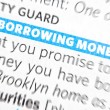 Borrowing money words — Stock Photo #6235108
