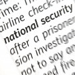 National security words — Stock Photo