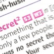 Secret word — Stock Photo