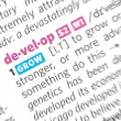 Develop word — Stock Photo