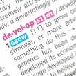 Stock Photo: Develop word