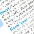 Fiscal word — Stock Photo