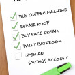 Stock Photo: To do list