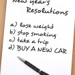 Stock Photo: New year resolutions