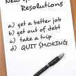 Royalty-Free Stock Photo: New year resolutions