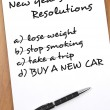New year resolutions — Foto Stock