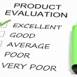 Product evaluation — 图库照片