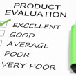 Stock Photo: Product evaluation