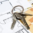 House plans and key — Stock Photo #6235305