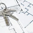 House plans and key — Stock Photo