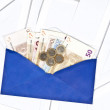 Blue envelope — Stock Photo