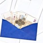 Blue envelope — Stock Photo