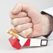 Punch in cigarettes — Stock Photo