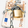 Money locked — Stock Photo