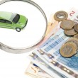 Royalty-Free Stock Photo: Car and money