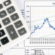 Stock Photo: Calculator and chart