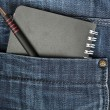Stock Photo: Jeans pocket