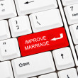 Stock Photo: Improve marriage key