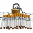 Cigarettes locked — Stock Photo #6238950