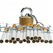 Cigarettes locked — Stock Photo #6238951