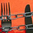 Fork and kinfe — Stock Photo