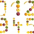 Digits made of fruits — Stock Photo
