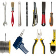 Collage fo hand tools — Stock Photo