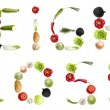 """Weight loss""words made of vegetables - Stock Photo"