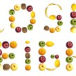 Lose weight word made of fruits — Stock Photo #6239488