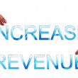 Increase revenue words — Stock Photo