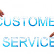 Customer service words — Stock Photo
