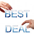 Best deal words — Stock Photo