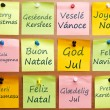 Merry Christmas in 12 languages — Stock Photo #6239808