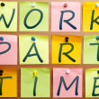 Work part time ad — Foto Stock