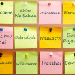 Welcome word in 12 languages - Stock Photo