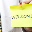 Royalty-Free Stock Photo: Welcome notice