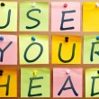 Use your head — Foto Stock