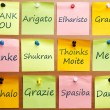 Stock Photo: Thank you word in 12 languages