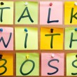 Royalty-Free Stock Photo: Talk with boss reminder