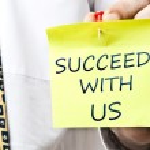 Bizimle başarılı — Stok fotoğraf