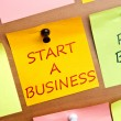 Start a business post it — Stock Photo