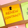 Stock Photo: Renew contract