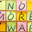 No more war — Stock Photo