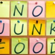 No junk food - Foto Stock