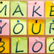 Stock Photo: Make your blog